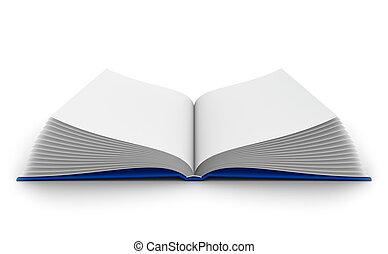 Open book - 3D rendering of the open book
