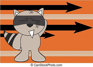 raccoon kid cartoon expression2 - raccoon kid cartoon...
