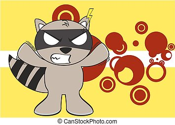 raccoon kid cartoon expression5 - raccoon kid cartoon...