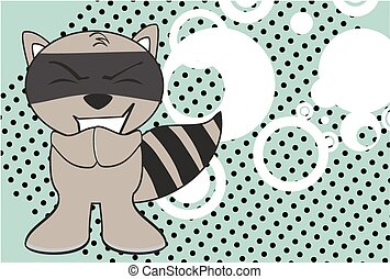 raccoon kid cartoon expression8 - raccoon kid cartoon...