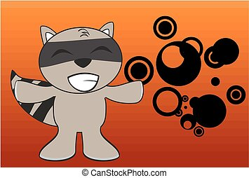 raccoon kid cartoon expression10 - raccoon kid cartoon...