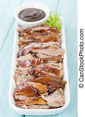 Peking Duck - Chinese roast crispy duck served with hoisin...