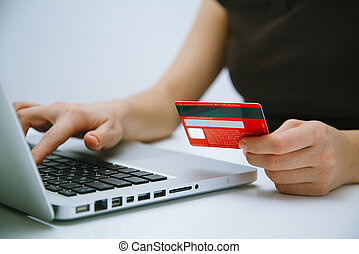 Paying with credit card online - Paying with a credit card...