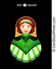 Matryoshka Ireland - Matryoshkas of the World: Irish dancer...