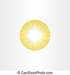 sunshine rays sun icon solar energy