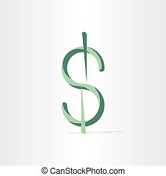 american dollar stylized money symbol bank icon