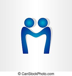 letter m agreement people handshake icon