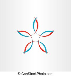 stylized flower symbol design - stylized flower vector...