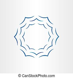 warer waves in circle abstract background