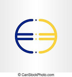 european union euro money line symbol design