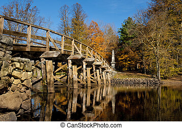 Old north bridge located in Concord, massachusetts, where...
