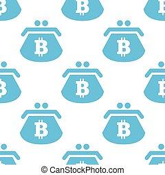 Flat bitcoin purse pattern