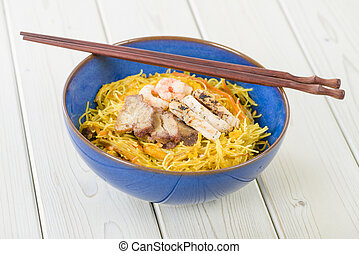 Singapore-Style Noodles - Stir-fried rice vermicelli...