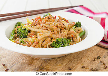 Dan Dan Noodles - Chinese noodles with minced pork and...