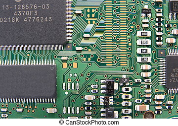 Computer circuit - Macrophoto of part of a computer circuit