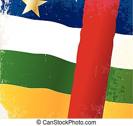 Central African Republic Flag - The flag of the African...