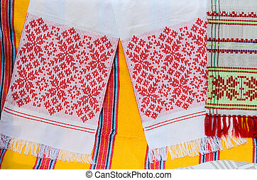 Belorussian towels with a traditional ornament - Belorussian...