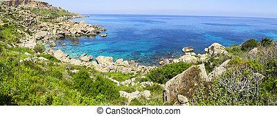 Na, à, piękny, słoneczny, day., Gozo, wyspa,...