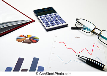 Business still life with chart