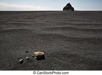 Balck sand landscape in Iceland