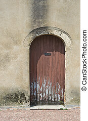 Old French door - Rotten old French door with modern...