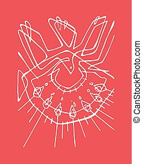 Holy Spirit - Hand drawn vector illustration or drawing of a...