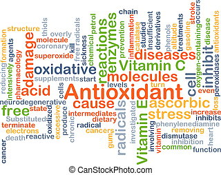 Antioxidant background concept