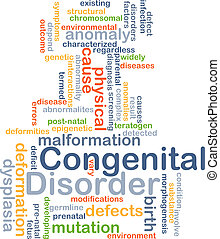 Congenital disorder background concept