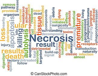 Necrosis background concept - Background concept wordcloud...