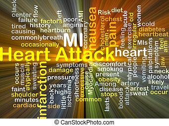 Heart Attack background concept glowing - Background concept...