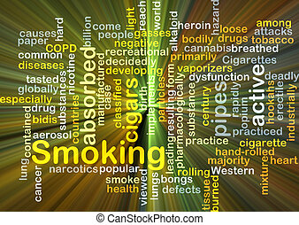 Smoking background concept glowing - Background concept...
