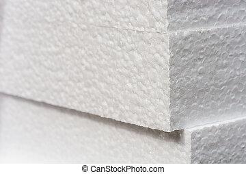 Bryn,  styrofoam, bakgrund