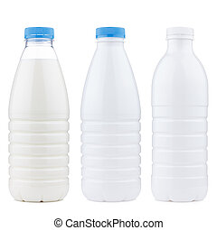 plastic dairy products bottle set - Different plastic dairy...