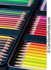 Color pencils in box