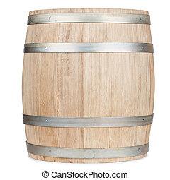 Novo, carvalho, madeira, barril,