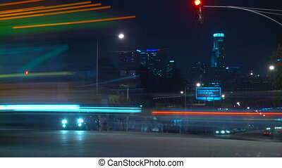 Los Angeles Traffic Time-lapse - Time-lapse view of an...