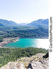 Rewarding View of Snoqualmie Washington Rattlesnake Ledge...