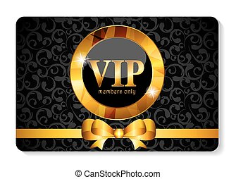 VIP Members Card Vector Illustration EPS10