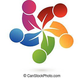 Logo teamwork people - Logo concept of community unity,...