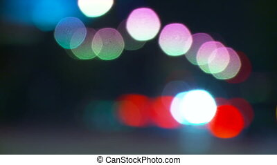 Bokeh Traffic Lights Time-lapse - Time-lapse view traffic...