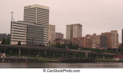 Thea Foss Waterway Downtwon City Skyline Sunrise Tacoma...
