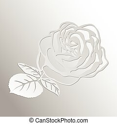 Abstract Rose cut out of paper