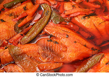 Hraimeh Spicy Fish dish - North African, Hraimeh spicy fish...