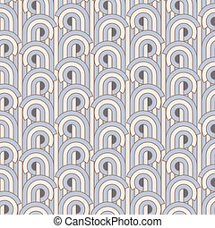 Art deco pattern - Vector illustration of seamless patterns...