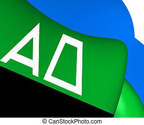 Flag of Andijk, Netherlands. Close Up.