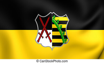 Electorate of Saxony Flag - 3D Electorate of Saxony Flag...