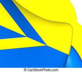Flag of Wehl, Netherlands Close Up