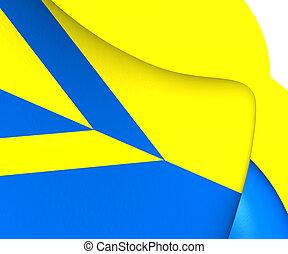 Flag of Wehl, Netherlands. Close Up.