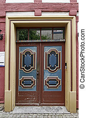 Nice brown door, Lower Saxony, Germany - Nice brown door in...