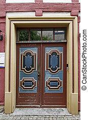 Nice brown door, Lower Saxony, Germany - Nice brown door in...